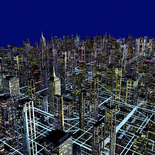 未来都市のネットワークのイラスト素材 [FYI01645113]