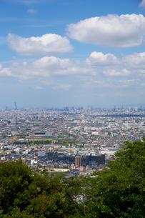 生駒山山頂からの大阪の遠景の写真素材 [FYI01645249]