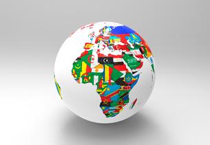 国旗の地球儀のイラスト素材 [FYI01645477]