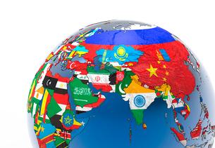 国旗の地球儀のイラスト素材 [FYI01645534]