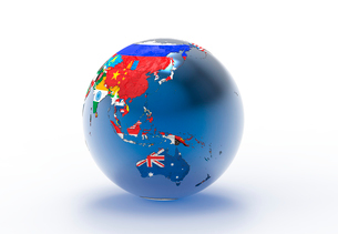 国旗の地球儀のイラスト素材 [FYI01645596]