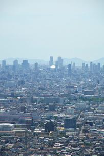 生駒山山頂からの大阪の遠景の写真素材 [FYI01645645]