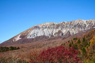 鍵掛峠より望む大山の写真素材 [FYI01645667]