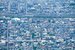 生駒山山頂からの東大阪市の遠景の写真素材 [FYI01645801]