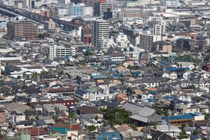 東大阪から望む大阪市の街並みの写真素材 [FYI01645892]