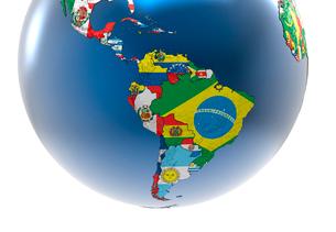 国旗の地球儀のイラスト素材 [FYI01645911]