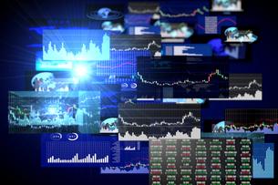 株価グラフのイラスト素材 [FYI01645921]