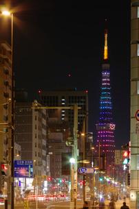 東京タワーライトアップ(ダイヤモンドヴェール)クリスマス夜景の写真素材 [FYI01646212]
