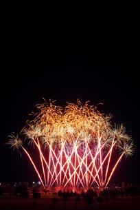 とりで利根川大花火のFire Revolution Ⅱの写真素材 [FYI01646375]