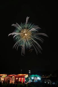 土浦全国花火競技大会 10号玉 八重芯の写真素材 [FYI01646804]