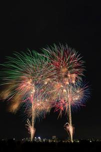 とりで利根川大花火の妖怪サミットの写真素材 [FYI01646835]