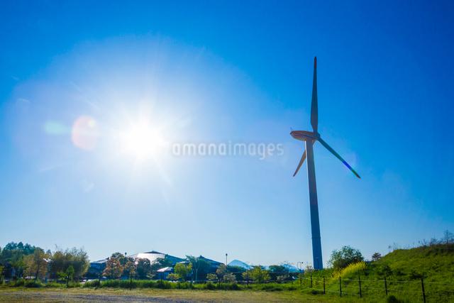風力発電の風車の写真素材 [FYI01647755]