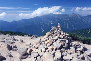 日本北アルプスの風景の写真素材 [FYI01648887]