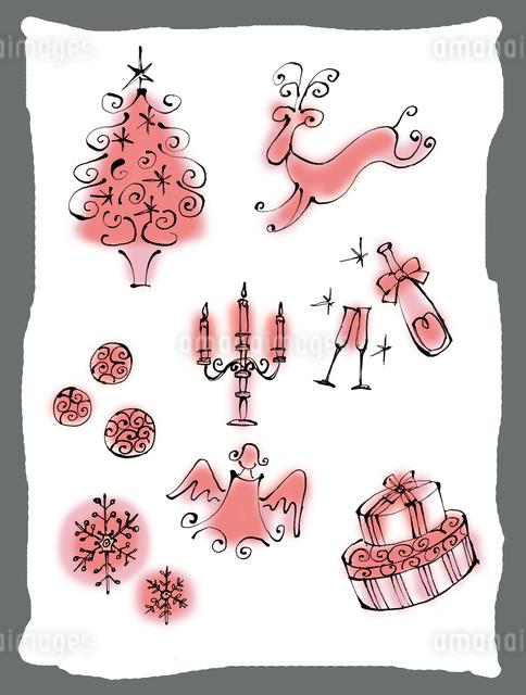 ロマンチックなクリスマスイメージのイラスト素材 [FYI01650310]
