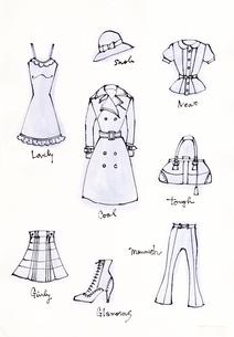 ファッションアイテム イラストのイラスト素材 [FYI01650311]