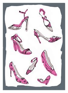 ヒールのあるレディス靴のイラスト素材 [FYI01650319]