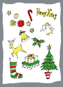 クリスマスの小物イメージのイラスト素材 [FYI01650320]