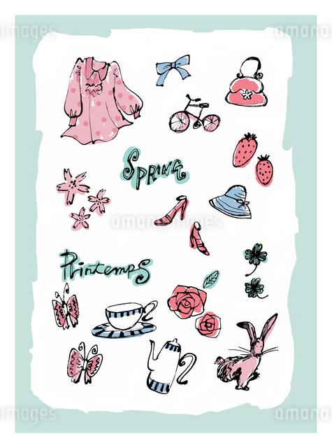 春のモチーフとイメージのイラスト素材 [FYI01650323]