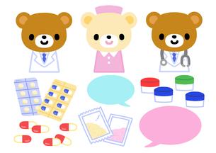 キャラクター・クマのお医者さんのイラスト素材 [FYI01652710]