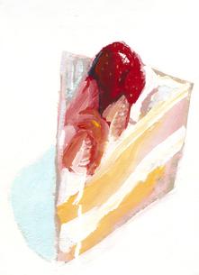 苺のショートケーキのイラスト素材 [FYI01652745]
