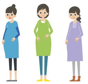 妊婦三人のイラスト素材 [FYI01652866]