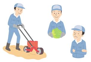 農作業3パターンのイラスト素材 [FYI01652876]