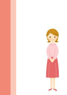 女性の立ち姿のイラスト素材 [FYI01652928]