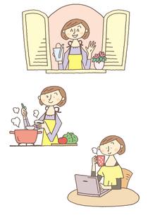 主婦のイメージのイラスト素材 [FYI01652967]