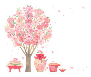 桃の節句のイラスト素材 [FYI01653009]