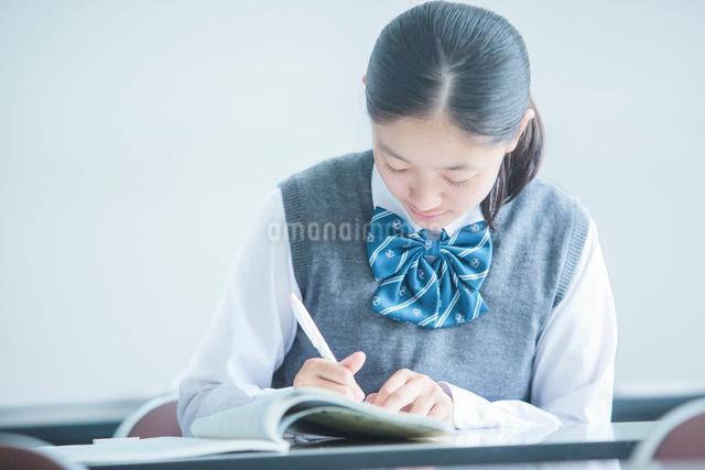 勉強する女子学生の写真素材 [FYI01653100]