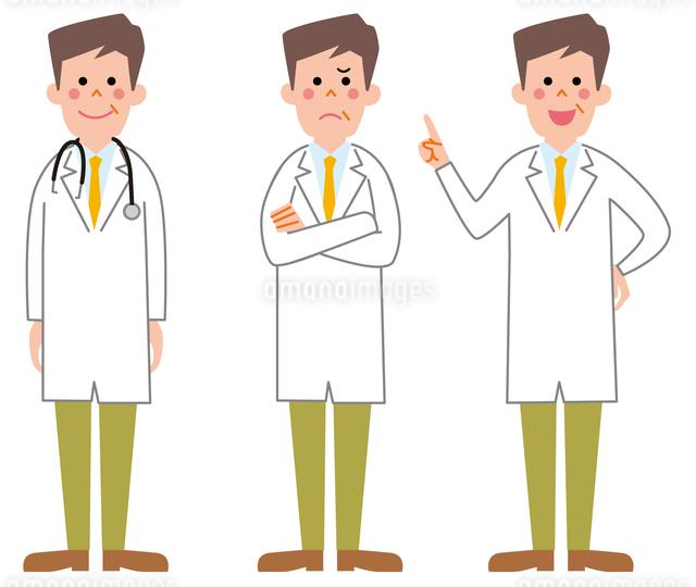 医者3パターンのイラスト素材 [FYI01653173]