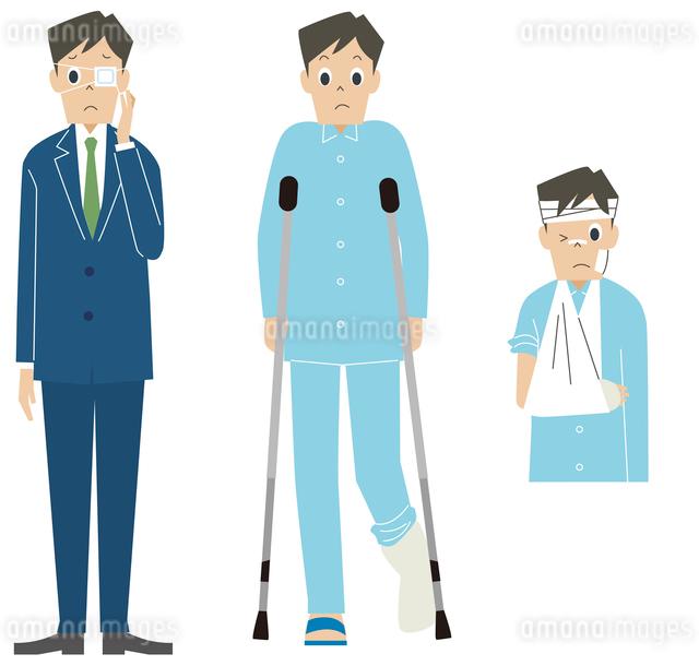怪我をしている男性のイラスト素材 [FYI01653224]