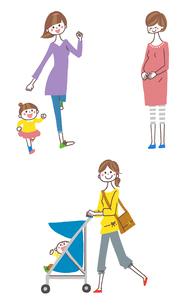 妊婦と親子のイラスト素材 [FYI01653259]