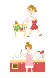 食品の買い出し 料理のイラスト素材 [FYI01653392]