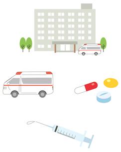 病院アイコンセットのイラスト素材 [FYI01653433]