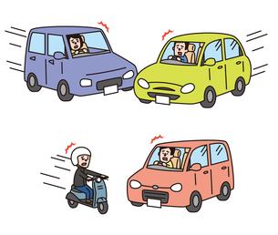 事故(車と 車、バイクと車)のイラスト素材 [FYI01653516]