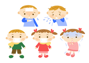 小児科 子供の風邪のイラスト素材 [FYI01653522]