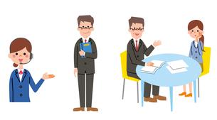 オペレーター、弁護士と相談、弁護士のイラスト素材 [FYI01653613]