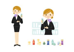 美容部員・化粧品販売の女性のイラスト素材 [FYI01653705]