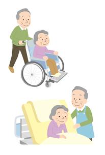 高齢者による高齢者の介護のイラスト素材 [FYI01653796]