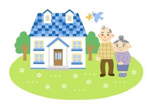家と家族 (祖父母)のイラスト素材 [FYI01653827]