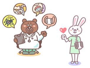 動物のお医者さん、看護師さんのイラスト素材 [FYI01653830]