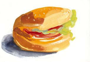 ハンバーガーのイラスト素材 [FYI01653836]