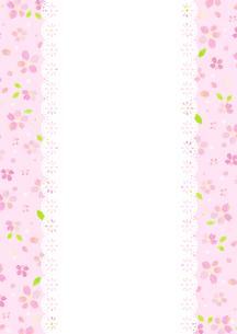 さくらの花柄、枠(ピンク)のイラスト素材 [FYI01653888]