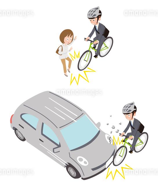 自転車事故(対人、対車)のイラスト素材 [FYI01653938]