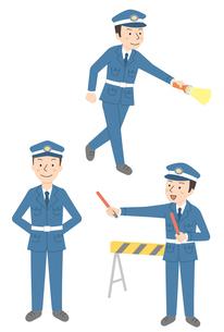 警備員仕事3パターンのイラスト素材 [FYI01653957]