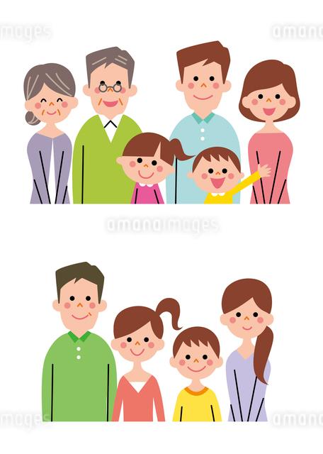 核家族・拡大家族(バストアップ)のイラスト素材 [FYI01653995]