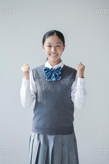 笑顔の女子学生の写真素材 [FYI01654462]