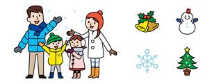 家族と冬アイコンのイラスト素材 [FYI01654662]
