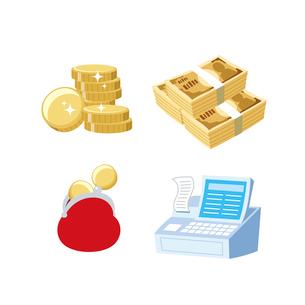 金融(お金、財布、レジスター)のイラスト素材 [FYI01654681]